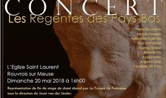 CONCERT LES REGENTES DES PAYS BAS - Rouvrois-sur-Meuse